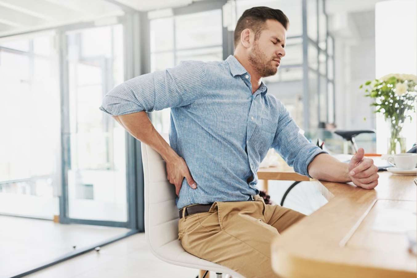 Back pain is associated with poor posture