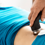 Ultrasound therapy by physiotherapist
