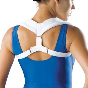 white posture brace